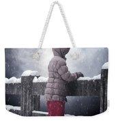 Child In Snow Weekender Tote Bag
