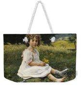 Child In The Meadow Weekender Tote Bag