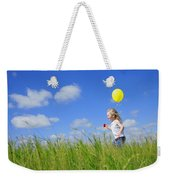 Child Running With A Balloon Weekender Tote Bag