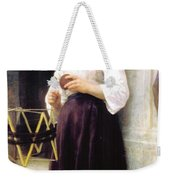 Child With A Ball Of Wool Weekender Tote Bag