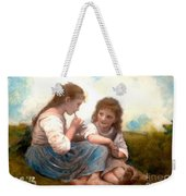 Childhood Idyllic By Bouguereau Weekender Tote Bag
