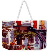 Childhood Montreal Memories Balconies And Bikes The Boys Of Summer Our Streets Tell Our Story Weekender Tote Bag