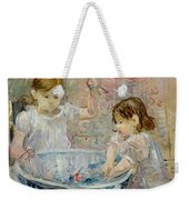 Children At The Basin Weekender Tote Bag
