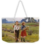 Children On The Way Home Weekender Tote Bag