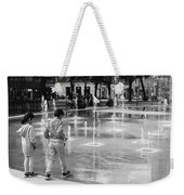 Children Play By Fountain Weekender Tote Bag
