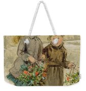 Children Playing In The Snow  Weekender Tote Bag