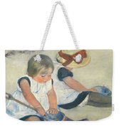 Children Playing On The Beach Weekender Tote Bag