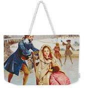 Children Skating Weekender Tote Bag by Maurice Leloir