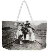 Children With Camera, C1900 Weekender Tote Bag