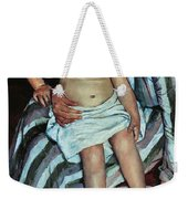 Child's Bath Weekender Tote Bag by Mary Cassatt