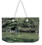 Chimes Tower Reflection Weekender Tote Bag