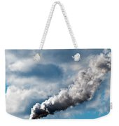 Chimney Exhaust Waste Amount Of Co2 Into The Atmosphere Weekender Tote Bag by Ulrich Schade
