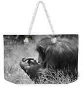 Chimpanzee In Thought Weekender Tote Bag