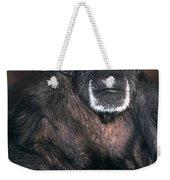 Chimpanzee Portrait Endangered Species Wildlife Rescue Weekender Tote Bag