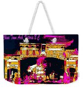 China Town Arch Victoria British Columbia Canada Weekender Tote Bag