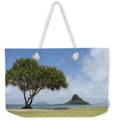 Chinamans Hat With Tree - Oahu Hawaii Weekender Tote Bag