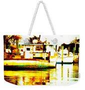 Chincoteague Boat Reflections Weekender Tote Bag