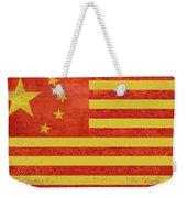 Chinese American Flag Weekender Tote Bag