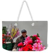 Chinese Bicycle Flower Vendor On Street Shanghai China Weekender Tote Bag