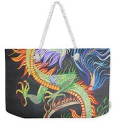 Chinese Fire Dragon Weekender Tote Bag