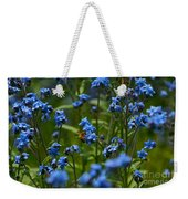 Chinese Forget Me Nots And Honey Bee Weekender Tote Bag
