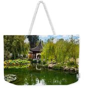Chinese Garden And Sky Weekender Tote Bag