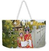 Chinese Opera Children - Traditional Chinese Opera Costumes. Weekender Tote Bag