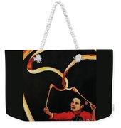 Chinese Ribbon Dancer Yellow Ribbon Weekender Tote Bag