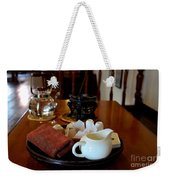 Chinese Tea Pot Cups Towel Tray And Plates Weekender Tote Bag