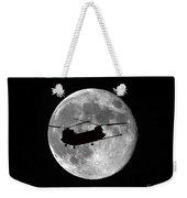 Chinook Moon B And W Weekender Tote Bag