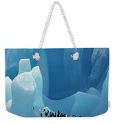 Chinstrap Penguins On Blue Iceberg Weekender Tote Bag