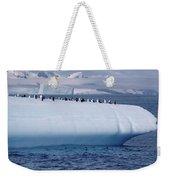 Chinstrap Penguins On Iceberg Weekender Tote Bag