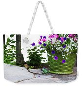 Chipmunk And Flowers Weekender Tote Bag