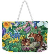 Chipmunk Garden Weekender Tote Bag