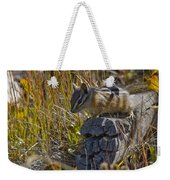 Chipmunk In Yellowstone Weekender Tote Bag