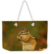 Chipmunk Loving Honey Roasted Peanuts Weekender Tote Bag