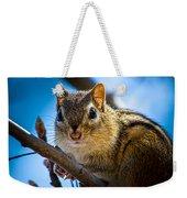 Chipmunk On A Branch Weekender Tote Bag