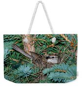 Chipping Sparrow On Nest Weekender Tote Bag