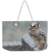 Chippy Christmas Card Weekender Tote Bag