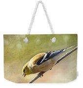 Chirping Gold Finch Weekender Tote Bag