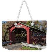 Chiselville Covered Bridge Weekender Tote Bag by Edward Fielding