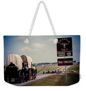 Chisholm Trail Centennial Cattle Drive Weekender Tote Bag