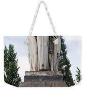 Chisletti Bonelli Memorial Front View Monumental Cemetery Milan Weekender Tote Bag