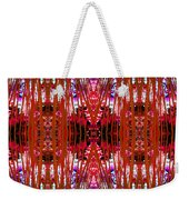 Chive Abstract Red Weekender Tote Bag