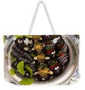 Chocolate Berries Weekender Tote Bag