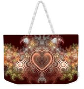Chocolate Heart Weekender Tote Bag