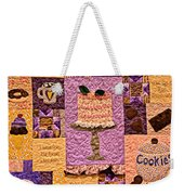 Chocolate Holiday Weekender Tote Bag