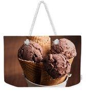Chocolate Ice Cream Weekender Tote Bag