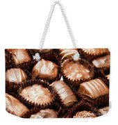 Chocolate Makes The World Go Around Weekender Tote Bag