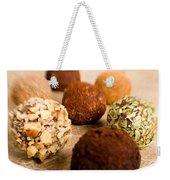 Chocolate Truffles On Gold Weekender Tote Bag